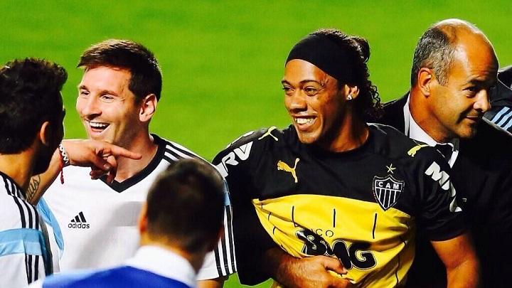 Messi y Ronaldinho