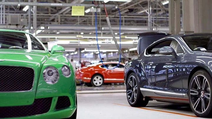 Bentley Continental GT fabrica